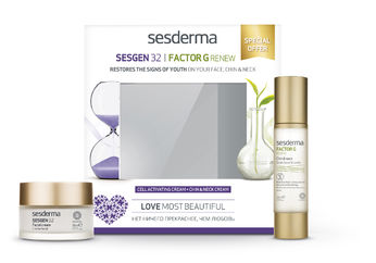Mothers´day Kit: FACTOR G RENEW Oval Face & Neck+ Sesgen 32 Cell Activating Cream, SESDERMA
